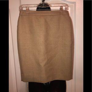 Jcrew tan no 2 pencil skirt size 2P